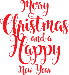 Merry Christmas and a Happy New Year Logo Vector