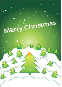 merry christmas art poster Logo Vector