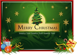 merry christmas clip art Logo Vector