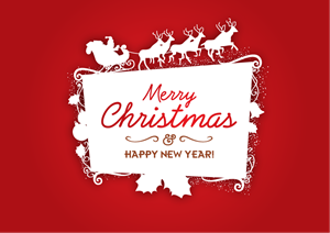 MERRY CHRISTMAS FRAME Logo Vector