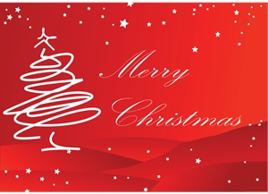 merry christmas stroke card Logo Vector