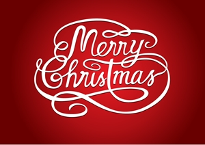 MERRY CHRISTMAS TEXT Logo Vector