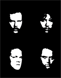 metallica faces Logo Vector