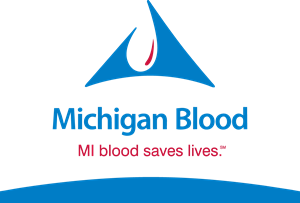 Michigan Blood Logo Vector