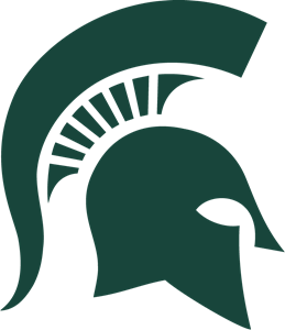 Michigan State University Spartan Helmet Logo Vector
