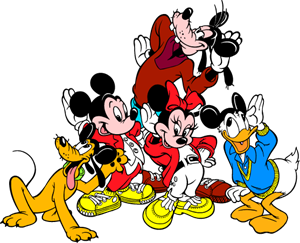 Mickey and friends Logo Vector