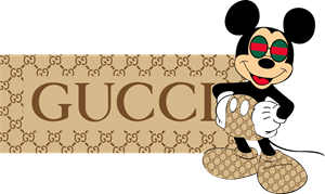 Mickey Gucci Style Logo Vector