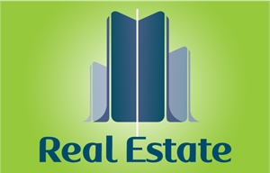 Midnight Blue Real Estate Building Logo Vector