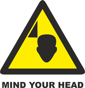 MIND YOUR HEAD SIGN Logo Vector