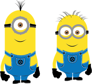 Minions characters Logo Vector