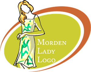Modern Lady Fashion Logo Vector