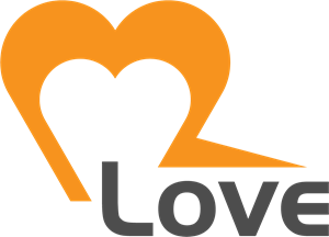 Modern Love Logo Vector