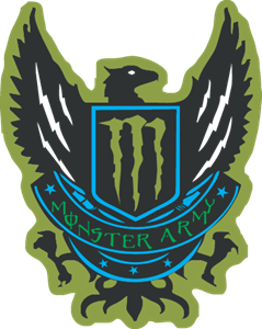 monster Army Logo Vector