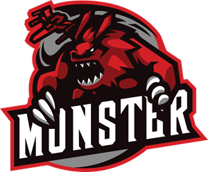 Monster Sport and Esports Logo Vector