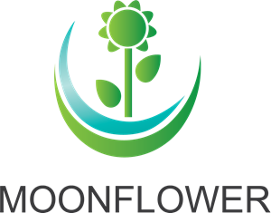 Moon Flower Logo Vector