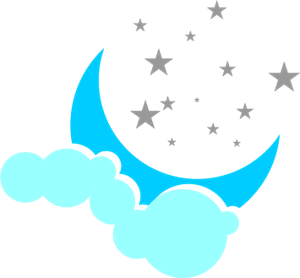 Moon Star Logo Vector