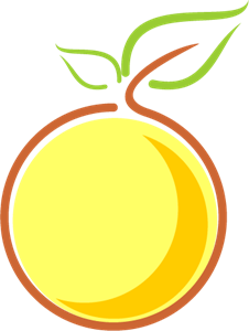 Morden Lemon Food Logo Vector