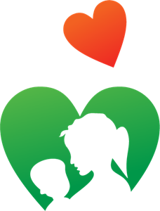 Mother Child Logo Vector