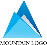 Mountain Design Logo Vector
