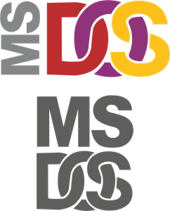 MS DOS Logo Vector