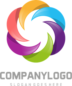 Multicolor corporative Logo Vector