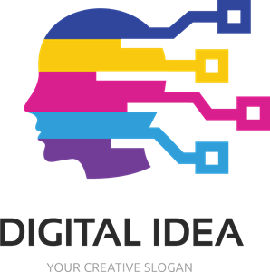 Multicolor Digital Idea Logo Vector
