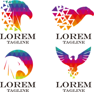 Multicolor eagle Logo Vector