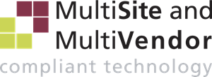 MultiSite and MultiVendor Compliant Technology Logo Vector