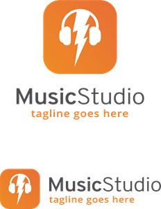 Music Studio Logo Vector