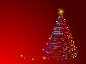 musical christmas tree Logo Vector