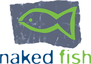 Naked Fish Logo Vector