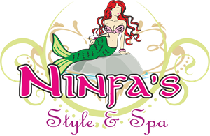 Ninfa's Style and Spa Logo Vector