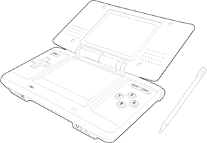 Nintendo DS Drawing Logo Vector