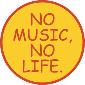 No Music No Life Logo Vector