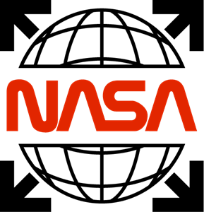 NASA white off Logo Vector