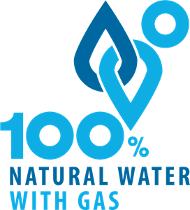 Natural Water with Gas Logo Vector