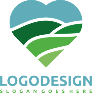 Nature and love Logo Vector