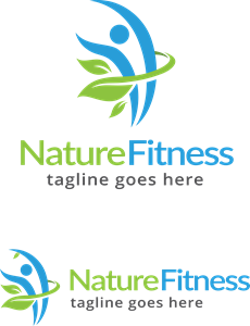 Nature Fitness Logo Vector