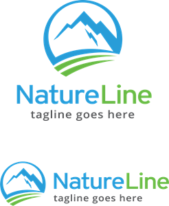 Nature Line Logo Vector
