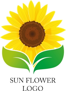 Nature Sun Flower Yellow Logo Vector