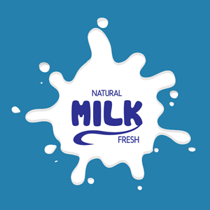 Naturel product milk fresh Logo Vector
