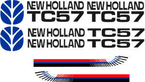 New Holland TC57 Logo Vector