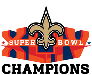 New Orleans Saints Super Bowl Champions Logo Vector