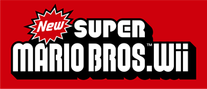 New Super Mario Bros Logo Vector