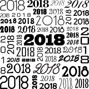 New Year 2018 Typography Logo Vector