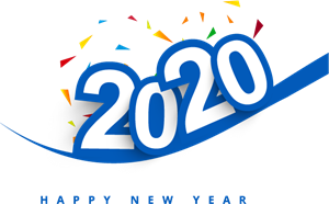 New Year creative 2020 Logo Vector