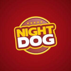 Night Dog Logo Vector