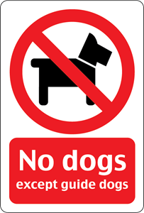 NO DOGS ALLOWED SIGN Logo Vector