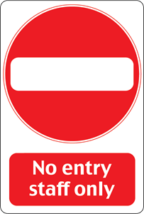 NO ENTRY SIGN Logo Vector