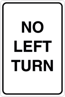 No left turn Logo Vector